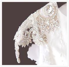 carol hannah beaded cap sleeve wedding dress // gorgeous