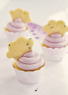 Lavender & Lemon Cloud Cupcakes