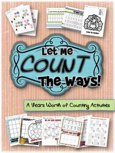 These are the activities I use in my classroom all year to practice counting! They are great for centers, small group, remediation or for sub plans.  Many can be used multiple times to allow for familiarity and building student confidence.