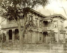Italianate Charles Fowler Residence, Galveston, Texas, built in 1894 - Demolished in 1948 to make way for a gas station, which was demolished to make way for a car-wash...