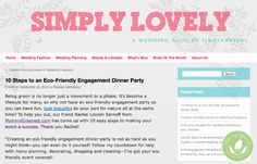 MG Eco-Friendly Party Tips on Simply Bridal - http://www.mommygreenest.com/mg-eco-friendly-party-tips-simply-bridal/