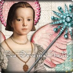 magical winged vintage princess banner in my graphics shop seadreamstudio.etsy.com