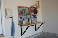 Space saving tips on pinterest space saving workbenches - Space saving ideas for garage ...