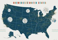 Brewery Map of the United States