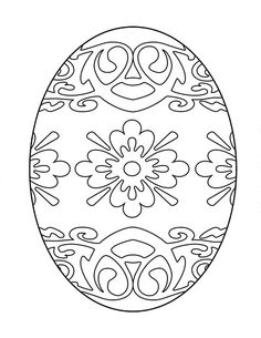 Printable Easter Egg Coloring Image Free (7 Different Images)