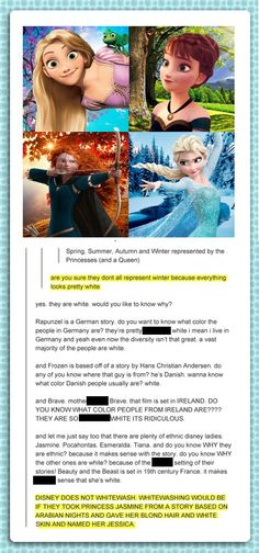 Girl Claims Disney Makes All Princesses White On Purpose, But She Wasn't Expecting THIS Response