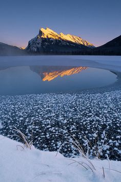 Icy Lake Photograph by Darwin Wiggett