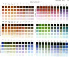 "Color charts from Richard Schmid's ""Alla Prima"""