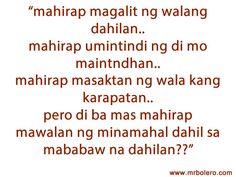 Tagalog Quotes Patama Tagalog love quotes