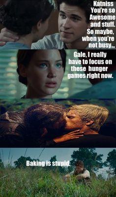 I wish I was Katniss kissing Peeta!