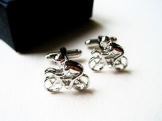 Racing Bicycle Cufflinks  stainless steel by LondonDesign on Etsy