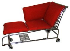 Shopping cart chaise lounge, Rustbelt Rebirth. Cricket would love to ride in this!