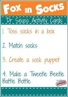 Dr. Seuss Activity Cards & International Book Giving Day Blog Hop