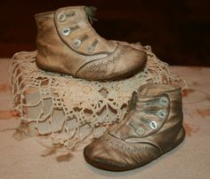 Vintage Baby Leather Shoes 1925 circa