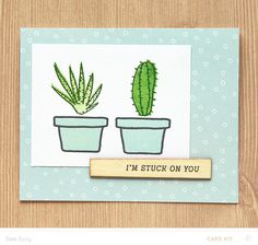 stuck on you card by deb duty at @studio_calico