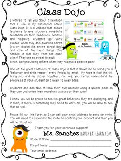 Class Dojo Parent Letter by Laugh. Eat. Learn.