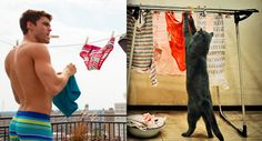 what kind of guy drys their undies on a clothesline outside?? but this is cute.