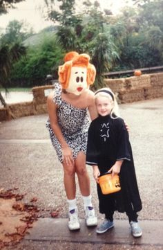 Author #EmilyMarch talks about this #Halloween photo and her favorite paranormal romance!  I'm Emily March and my most recent book was DREAMWEAVER TRAIL. The next in the series is TEARDROP LANE, out 1/27/2015.  I was Wilma Flinstone on a lovely mother/daughter outing with my own little Pebbles. Wilma is really a terrifying costume--imagine being married to Fred!  My favorite paranormal is Jayne Ann Krentz's HOT ZONE--love her Dust Bunnies!