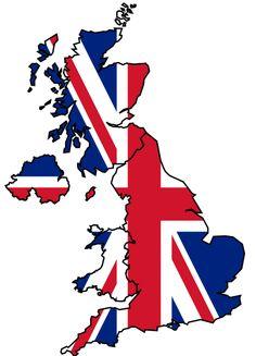 U.K. Flag map