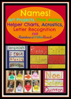 What's more important than your child's first name? RoundUP has tons of ideas for 'name' projects. Art projects, Acrostic poems, fine motor.... it's all here.