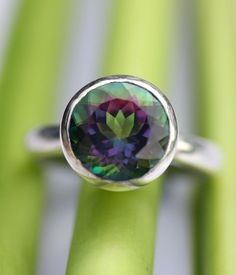 Mystic Topaz In Sterling Silver Ring - Made To Order, by louisagallery on Etsy.