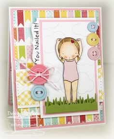 """Nailed It"" card by Debbie Carriere"