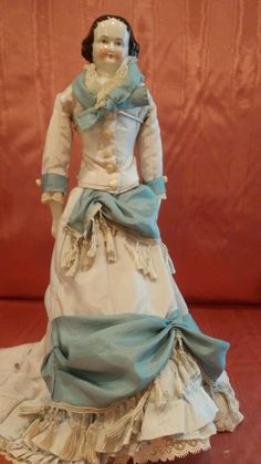 Antique China Doll Flat top