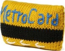 Hand-Knit Metrocard Pillow - with free shipping at #Bumblebean