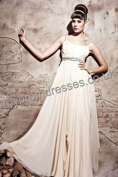 Floor length Off-the-shoulder Yellow Satin A-line Evening Dress  http://www.mypromdresses.co.uk