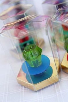 ring pops as favors for a superhero party