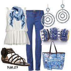 """True Blue"" by pjm27 on Polyvore"