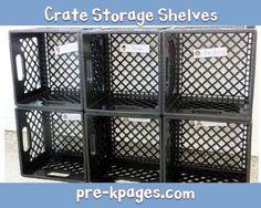 how to make crate cubbies for your preschool or kindergarten classroom