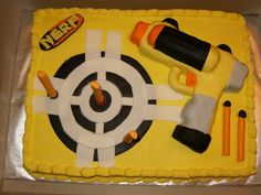 Nerf Birthday Party - by mommyspice3 @ CakesDecor.com - cake decorating website