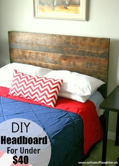 DIY Headboard For Under $40. By @Angie Wimberly Wimberly @Stan Xu Miga of Laughter on #savvystories