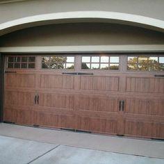 Wood Look Garage Doors Without The Upkeep On Pinterest