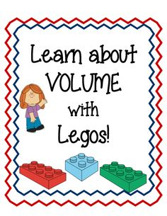 Have your students learn about volume with hands-on activities with legos! There are 20 task cards included in this document.  Students can use this as an extension, extra practice or support.  $3 math, scienc classroom, school, lego activity, lego lessons, task card, measur, legos, lego teach