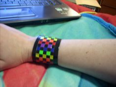 How to Make a Cute Duct Tape Bracelet via www.wikiHow.com