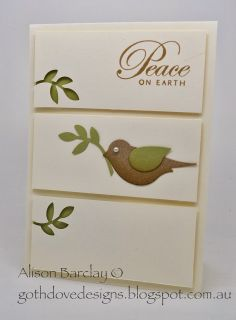 Gothdove Designs - Alison Barclay #stampinup #stampinupaustralia #greetingsoftheseason #christmascard #birdpunch