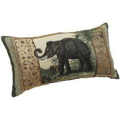 elephants, knife edg, pillow insert, edg 13, decor pillow
