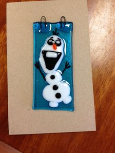 Glass Olaf from Frozen. Made at Paint a Piece Commack