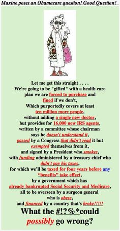 Maxine Summarized The Health Care Bill...