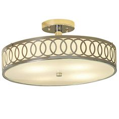 allen + roth 15-3/4-in Polished Chrome Ceiling Flush Mount $90 16 round 7.5 h