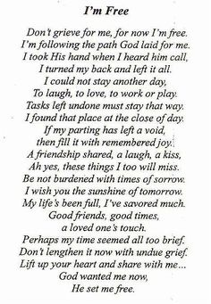 the poem we used for my dad's funeral