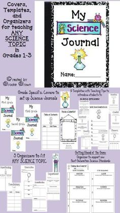 Science Journal Templates for ANY topic in Grades 1-3