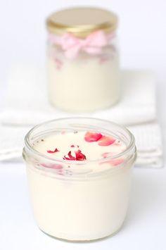 homemade rose yogurt