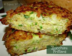 Zucchini Fritters with Chili Lime Mayo on MyRecipeMagic.com