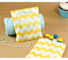 Chevron Little Bitty Bags - baby shower