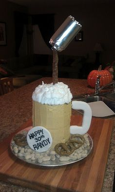 Birthday Cake, Beer Can Cake for Husbands 30th Birthday