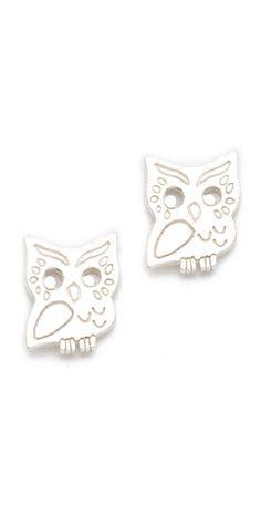 Gorjana Owl Stud Earrings