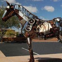 junk yard horse